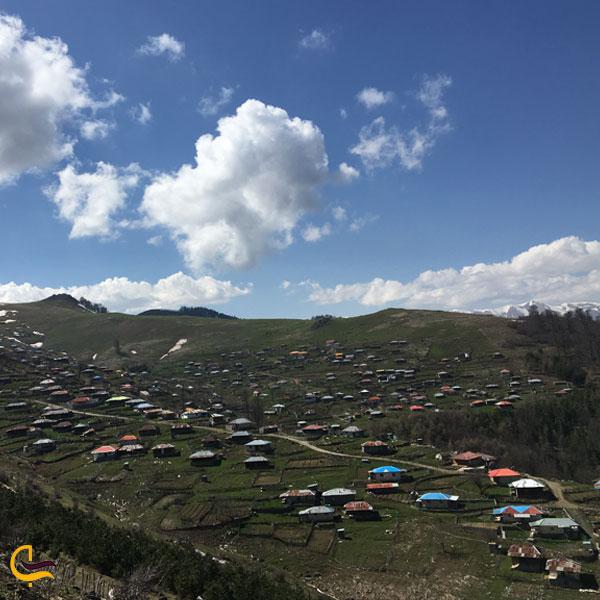 تصویری از روستای اطراف جاده اسالم به خلخال
