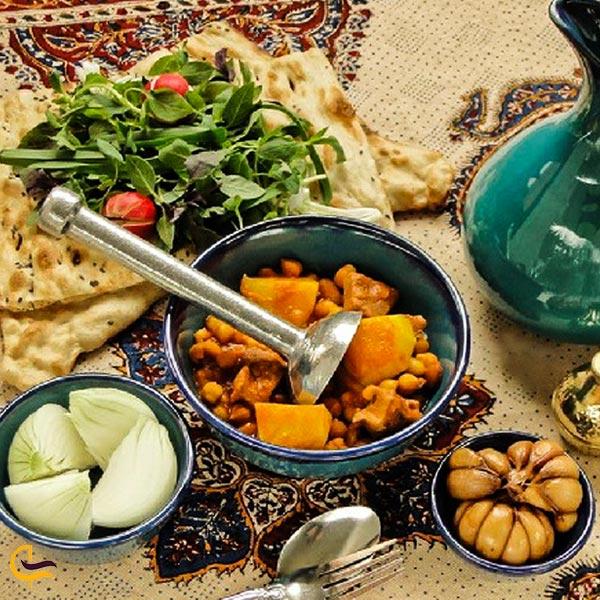 تصویری از غذای دیزی سنگی مشهدی