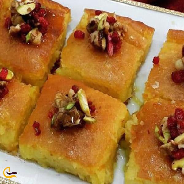 تصویری از غذای سنتی مشهدی کوکو شیرین
