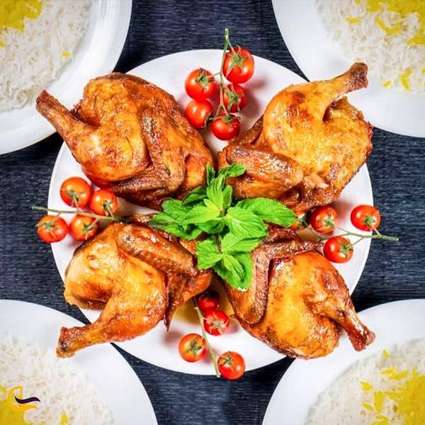 تصویری از غذای محلی اکبر جوجه مازندران