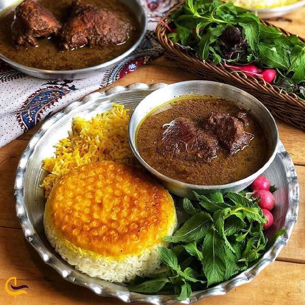 تصویری از خورشت فسنجان غذای محلی لاهیجان