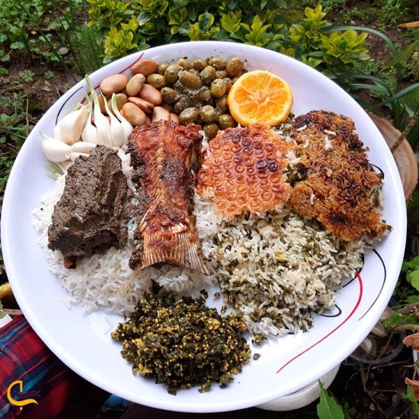 تصویری از غذای محلی ماهی مالاتا با برنج