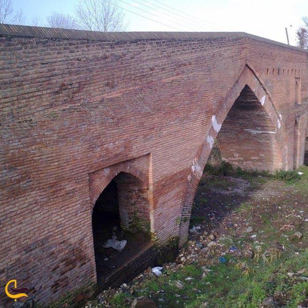 تصویری از پل خشتی روستای تجن گوکه