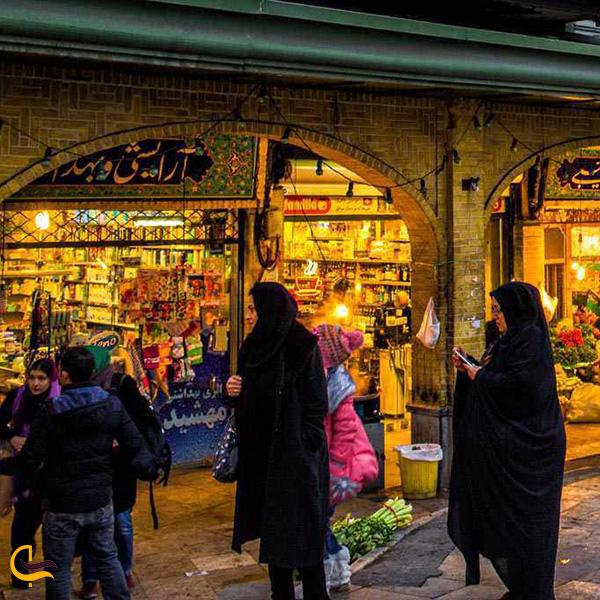 تصویری از بازار بزرگ تجریش