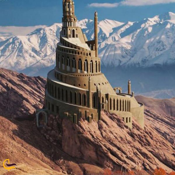 تصویر احتمالی از ظاهر اصلی و قدیمی قلعه الموت