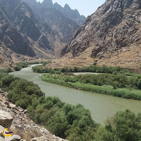 نمایی از رود ارس