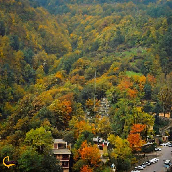 تصویری از طبیعت پاییزی روستای ماسوله