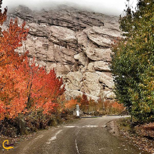 منظره زیبای پاییزی در روستای گازرخان قزوین