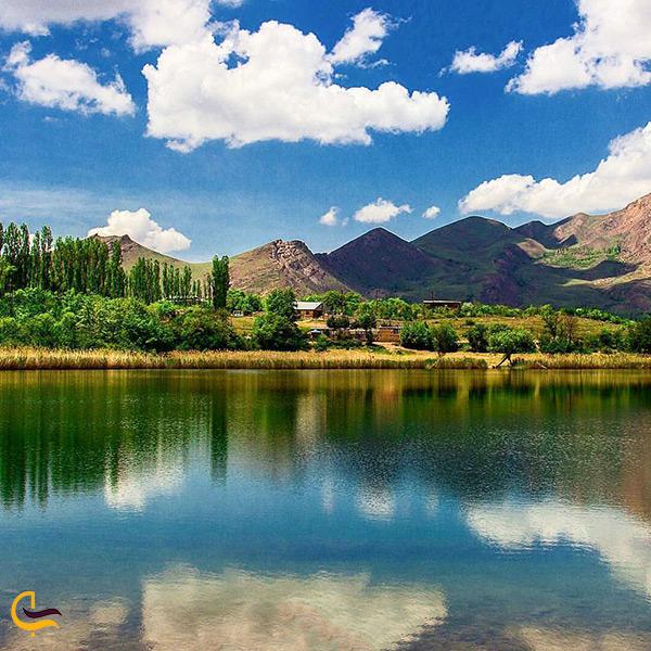 تصویر زیبای دریاچه اوان قزوین