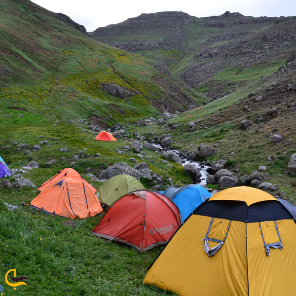 تصویری از کمپینگ در طبیعت کوه گل