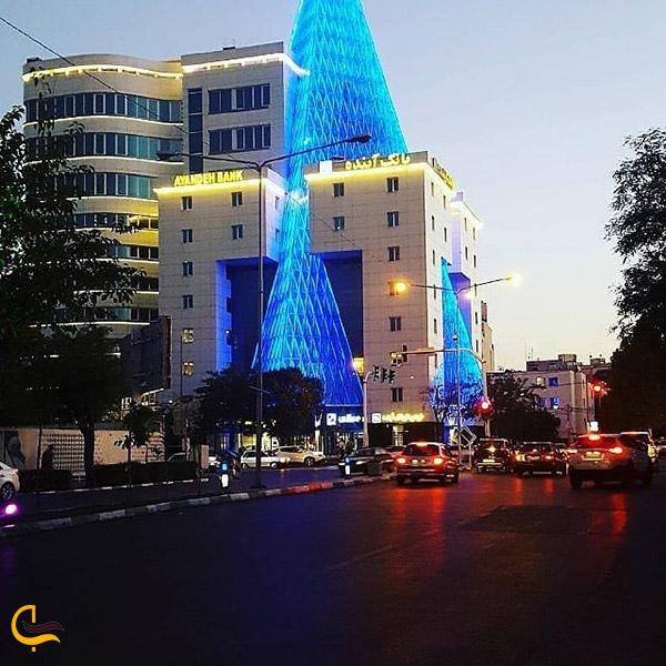 نمایی ازبلوار دستغیب مشهد