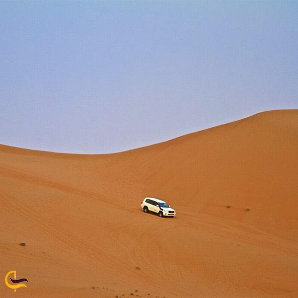 ماشین سواری در صحرا واهب عمان