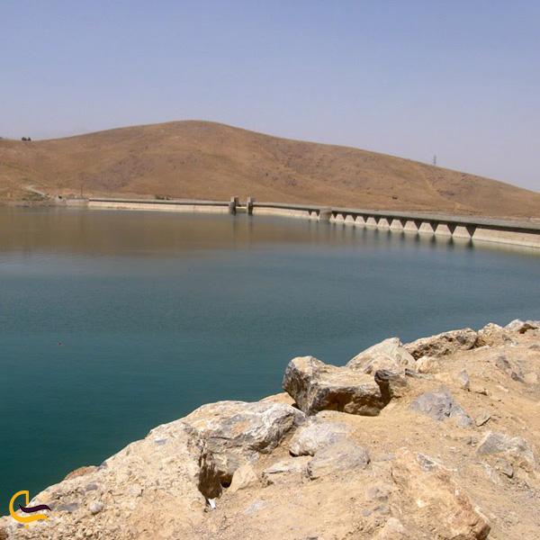 تصویری از سد اکباتان همدان