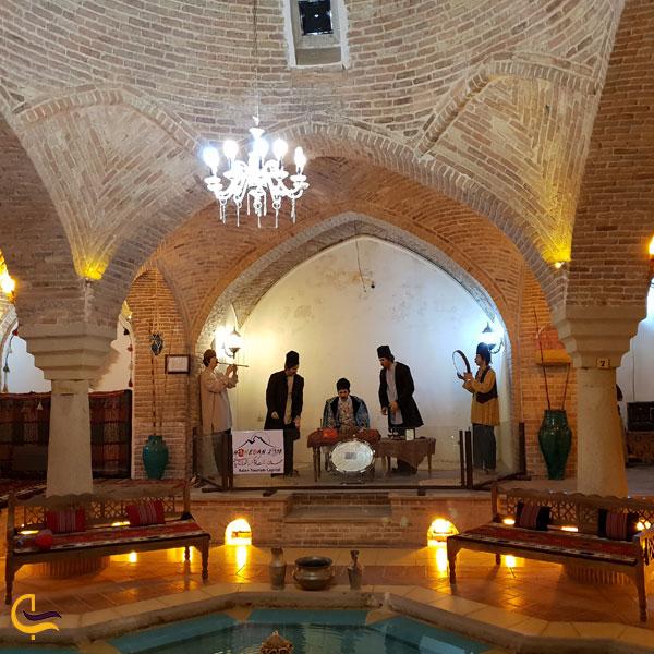 تصویری از حمام تاریخی قلعه