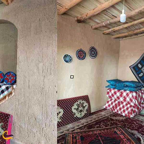 نمای داخل اقامتگاه بومگردی بلوط روستای هشتاد پهلو لرستان