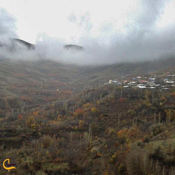 تصویری از طبیعت روستای کامان