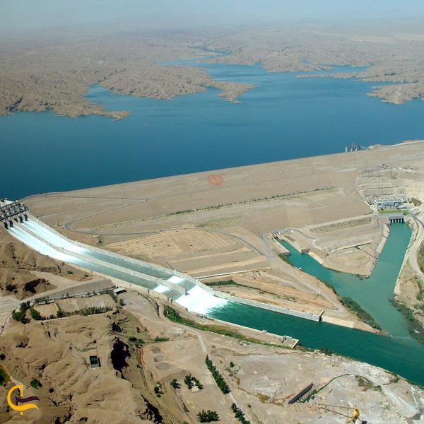 تصویری از دریاچه سد کرخه
