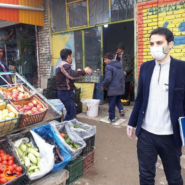 تصویری از بازار روز تکاب
