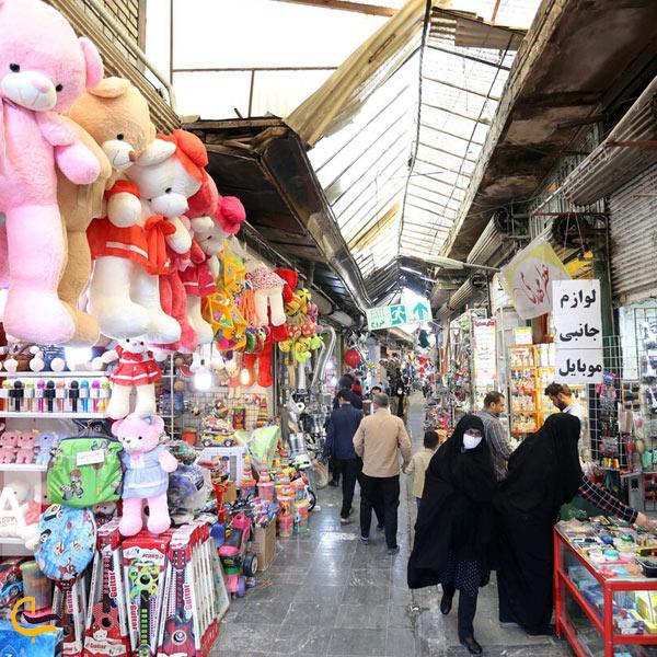 تصویری از بازار بزرگ همدان