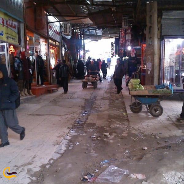 تصویری از مغازه های کنه بازار بوکان