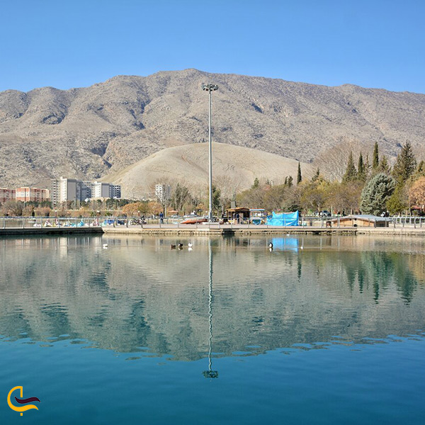نمای کلی دریاچه کیو خرم آباد