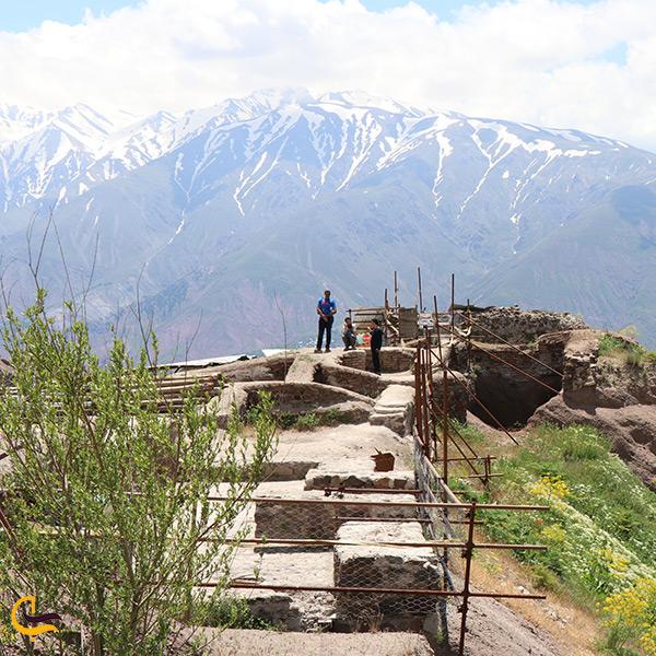 تصویر سیستم لوله کشی قلعه الموت در قزوین