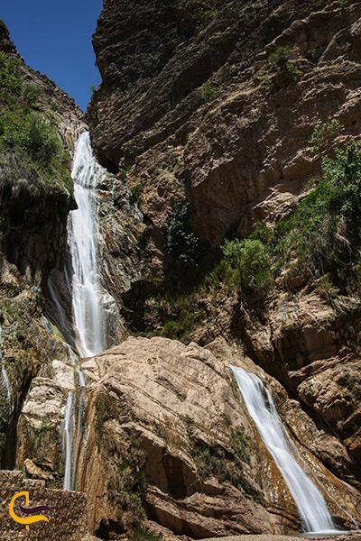 تصویر آبشار نوژیان در نزدیکی خرم آباد لرستان