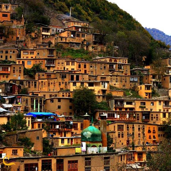 تصویری از خانه های روستایی ماسوله