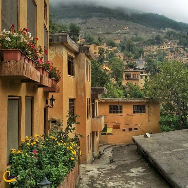 تصویری از خانه های روستای ماسوله