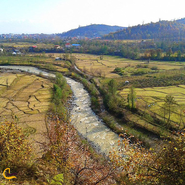 تصویر از نمای کلی رودخانه کرگانرود تالش