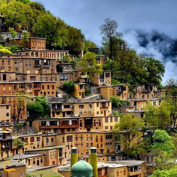 تصویری از خانه ها پلکانی روستای ماسوله