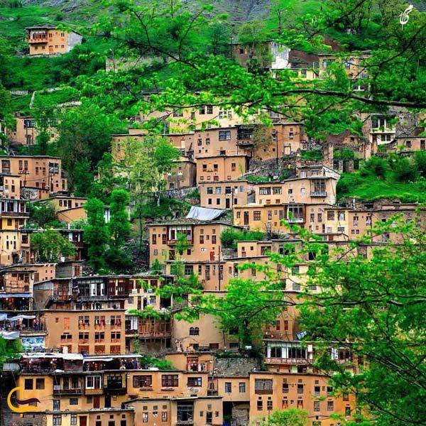 تصویری از طبیعت سرسبز روستای ماسوله