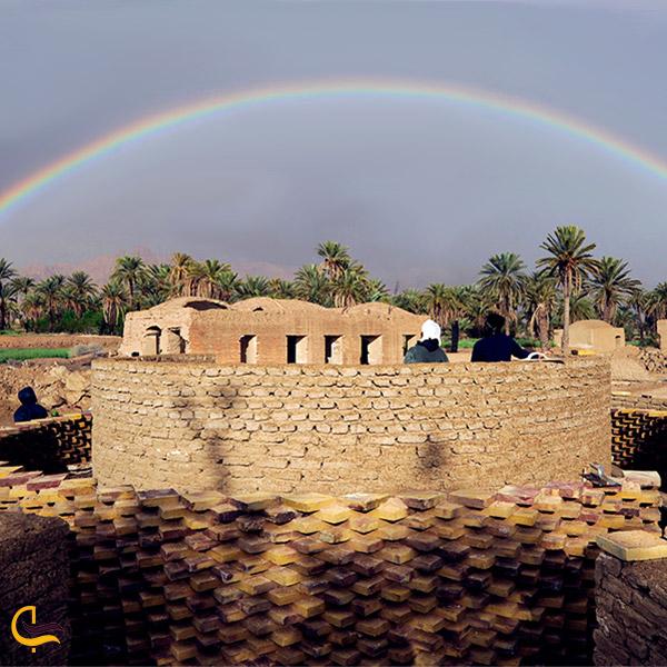 نمایی از رصدخانه کویر سه قلعه