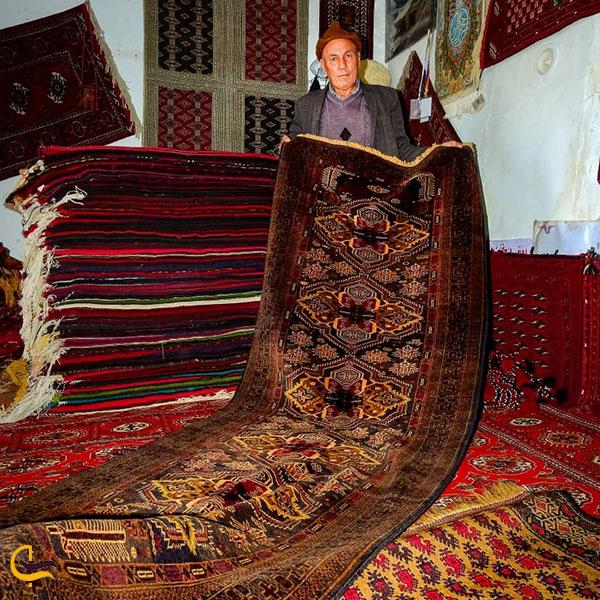 نمایی از سوغات ترکمن صحرا