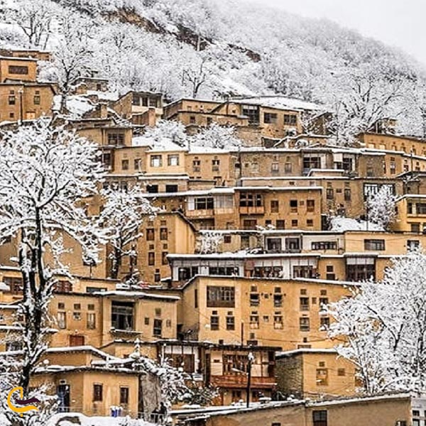 تصویری از طبیعت زمستانی روستای ماسوله