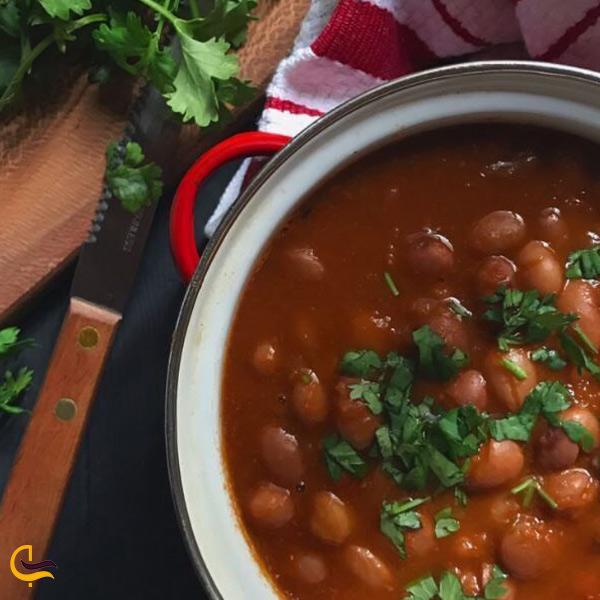 تصویری از خوراک لوبیا غذای محلی طالقان