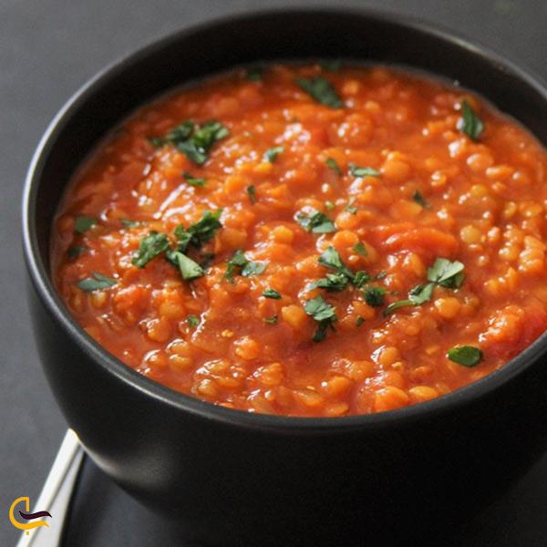 تصویری از دال عدس خوراک محلی طالقان