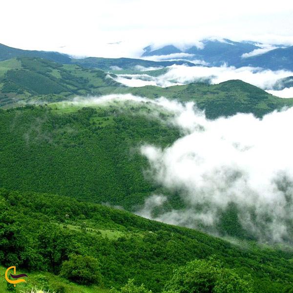 تصویری از طبیعت سرسبز روستای خدا آفرین