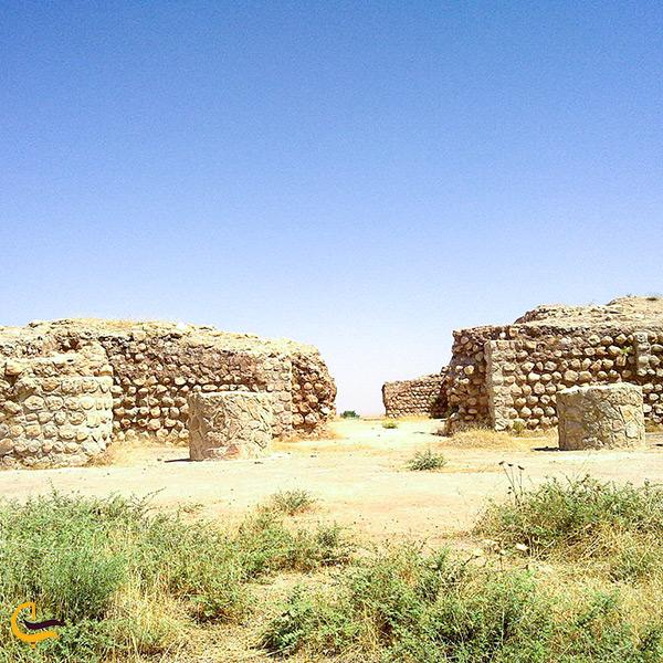 معماری کاخ خسرو قصر شیرین