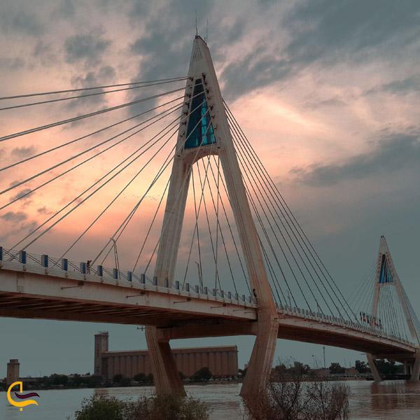 تصویری از پل غدیر اهواز