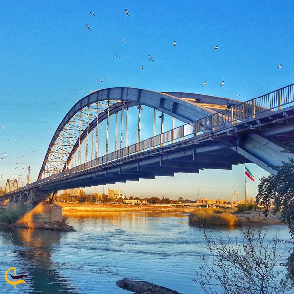 نمایی از پل سفید اهواز