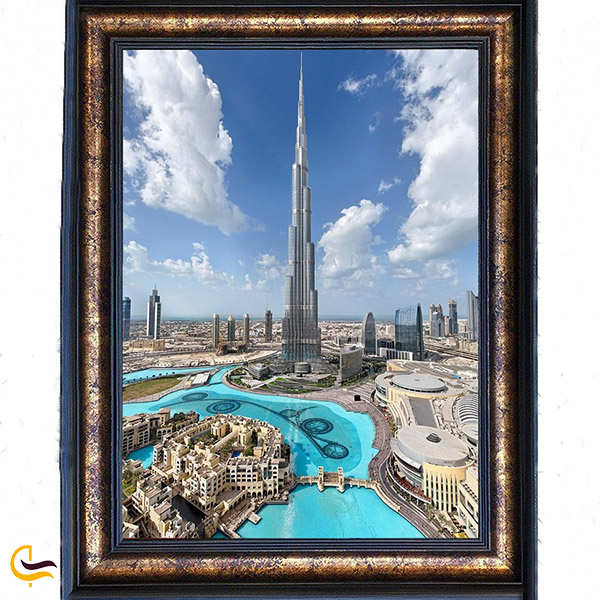 نمایی ازتابلو فرش برج خلیفه دبی