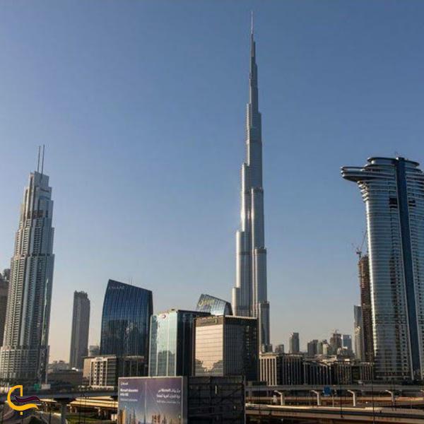 نمایی از برج خلیفه دبی