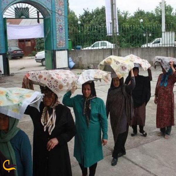 تصویری از برگزاری مراسم جشن مردگان روستای دودانگه