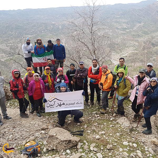 صعود به قله کوه هفت تنان