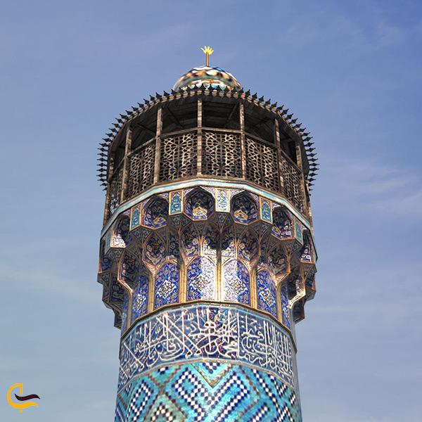 نمای نزدیک از مناره های مسجد شاه اصفهان