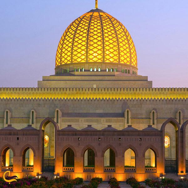 تصویری از طراحی مجسد جامع سلطان قابوس
