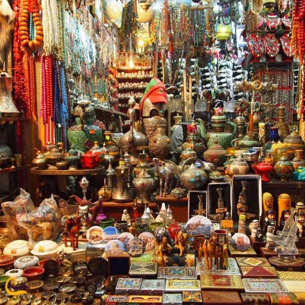 تصویری از مغازه های بازار سوق مطرح
