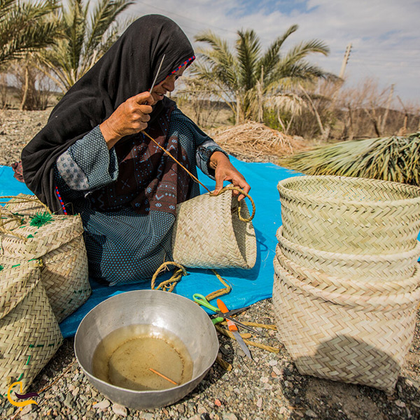 حصیر بافی سوغاتی هنر دست مردم بوشهر