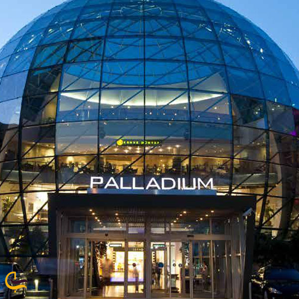 تصویری از ورودی مرکز خرید پالادیوم
